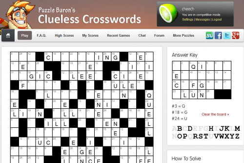how to play clueless crosswords