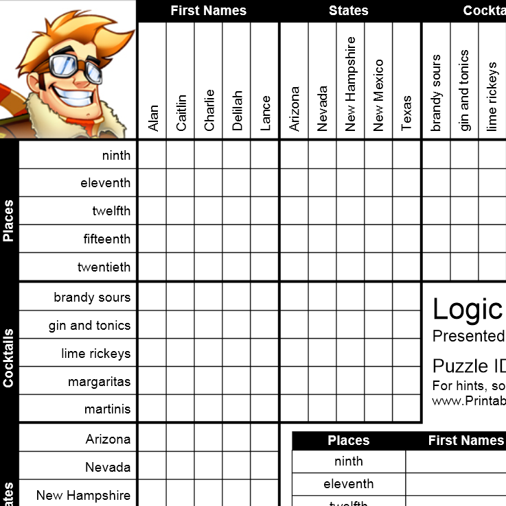 Exhilarating image with regard to logic puzzles easy printable