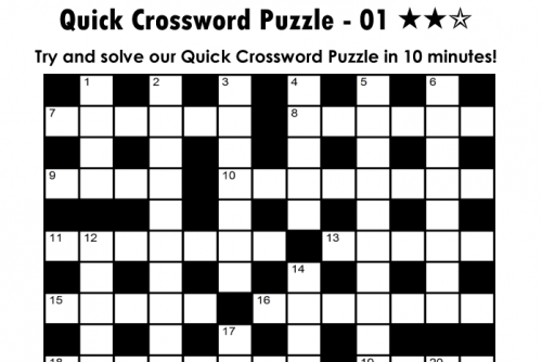 printable-quick-crossword