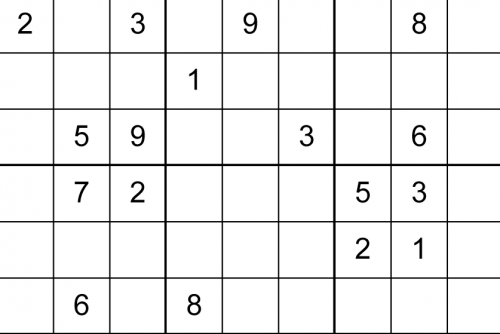picture regarding Printable Sudoku Grid named Printable Sudoku Puzzle Baron
